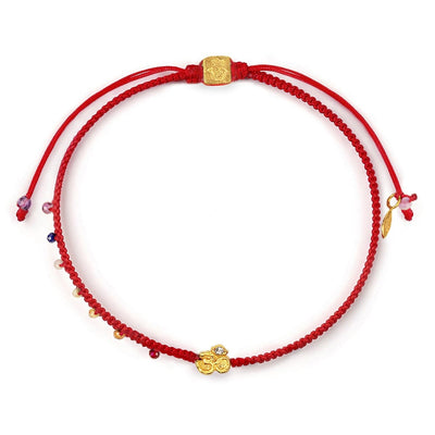 karma and luck - Serene Soul - Chakra Red String OM Charm Bracelet