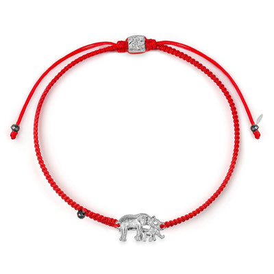 Caring Nourishment - Mother & Child Elephant Red String Bracelet - Karma and luck - buy now