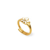 Brilliant Bloom - Lotus Diamond Gold Plated Ring