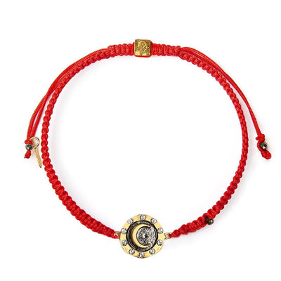 Lead by Intuition Red String Crescent Moon Bracelet - Karma and Luck | Buy Online