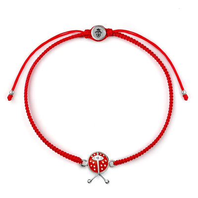 karma and luck - Vibrant Luck Red String Ladybug Charm Bracelet