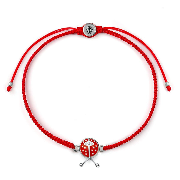 Vibrant Luck Red String Ladybug Charm Bracelet