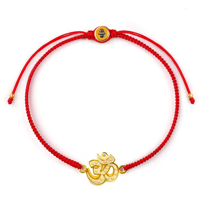 Glowing Serenity Red String OM Charm Bracelet
