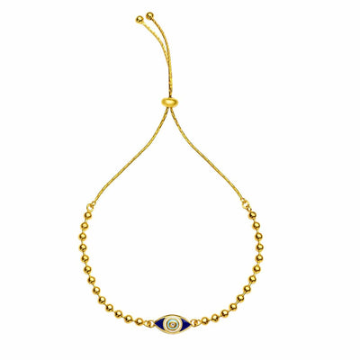 Sacred Protection Gold Evil Eye Charm Bracelet