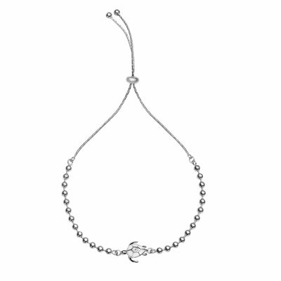 Ultimate Resilience Silver Turtle Charm Bracelet