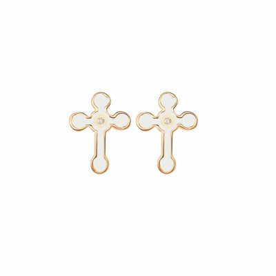 Faithful Path Cross Stud Earrings