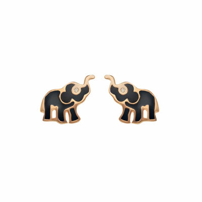 Glowing Wisdom Elephant Stud Earrings