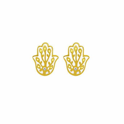 Ward off Malice Hamsa Stud Earrings