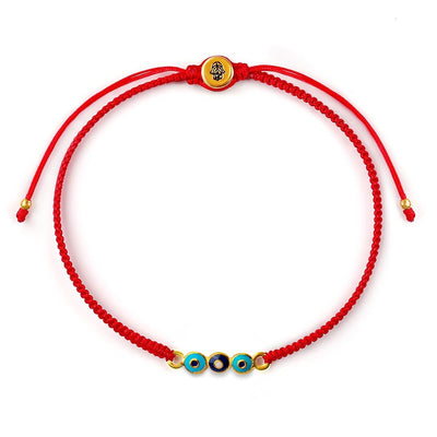 Reflect Positivity Red String Evil Eye Charm Bracelet