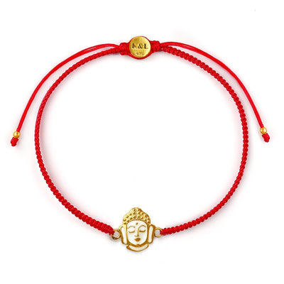 Peaceful Mind Red String Buddha Charm Bracelet