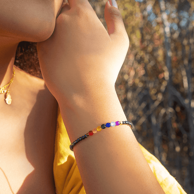 Chakra Hematite Bracelet - Karma and Luck | Buy Online