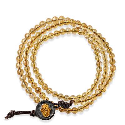 Cheerful Abundance Citrine Stone Wrap Bracelet