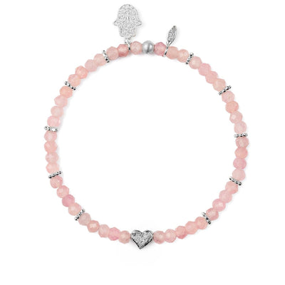 Pulsera de piedra de cuarzo rosa Aligned In Love - Karma and Luck | Comprar en linea