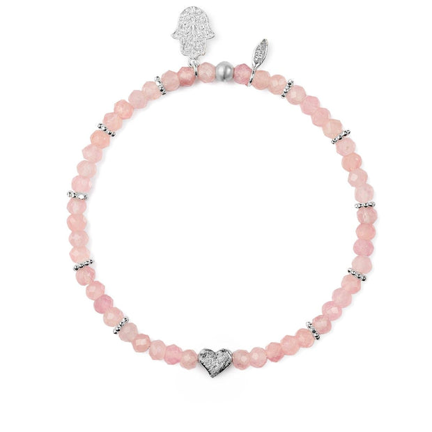 Aligned In Love Rose Quartz Stone Bracelet - Karma and Luck | Buy Online