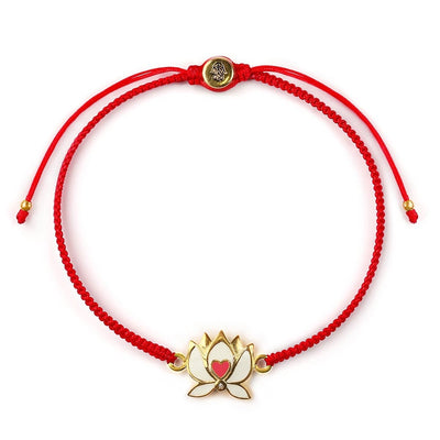 Caring Joy Lotus Heart Bracelet - Karma and Luck | Buy Online