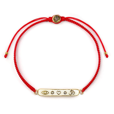 Essential Guard Red String Triple Protection Bar Bracelet