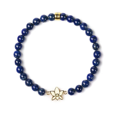 Bloom with Brilliance Lapis Lazuli Bracelet - Karma and Luck | Buy Online