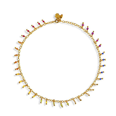 Unity Connection - Gold Multi Stone Chakra Anklet