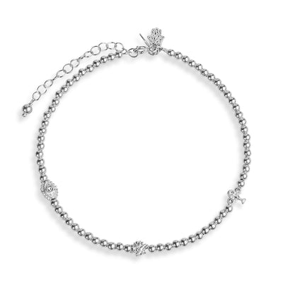 Karma and luck - Glorious Destiny - Silver Multi Symbol Anklet