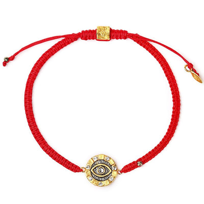 Spiritual Counsel Red String Swarovski Crystals Bracelet - Karma and Luck | Buy Online