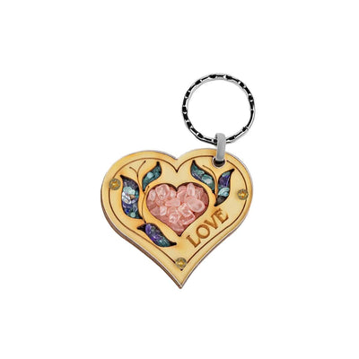 Compassion & Tenderness - Rose Quartz Heart Love Keychain