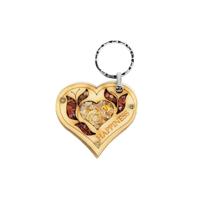 Futuro Radiante - Citrine Happiness Heart Keychain