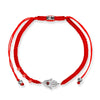Fiery Spirit - Silver Hamsa Red String Bracelet