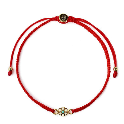 Karma and Luck - Blossoming Spirit Red String Bracelet - Buy Now