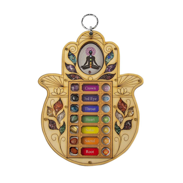 Karmic Alignment Hamsa Hand Symbol Wall Blessing - Karma and Luck | Buy Online