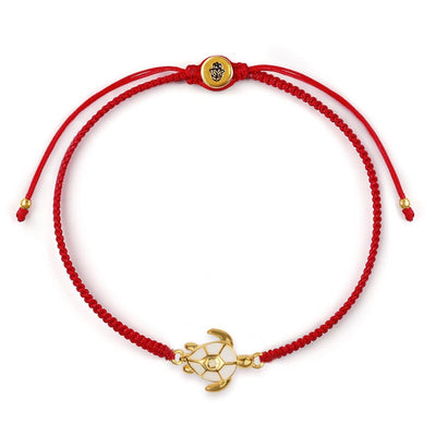 Patience Love Red String Tartaruga charme pulseira