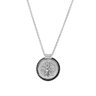 Spiritual Growth Talisman Silver Tree Of Life Necklace