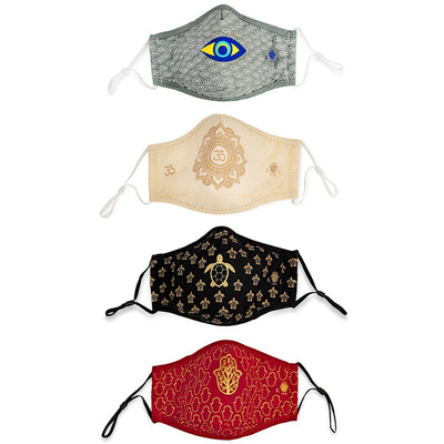 Infinite Reassurance - Karma and Luck Set of 4 Face Masks