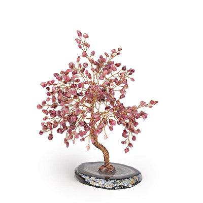 Red Tourmaline Feng Shui Tree