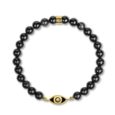 karma and luck - Expanding Consciousness -Black Onyx Evil Eye Charm Bracelet