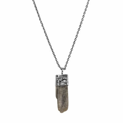 Awareness Generator - Labradorite Horus Slab Necklace