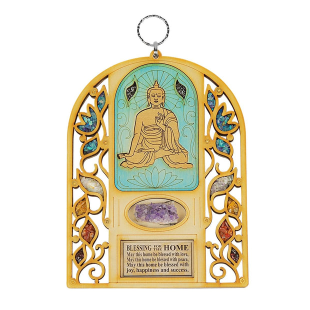 Serene Journey - Thai Buddha Amethyst Wall Blessing
