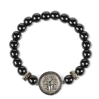Trascendent Strenght Hematite Stone Bracelet - Karma and Luck | Buy Online