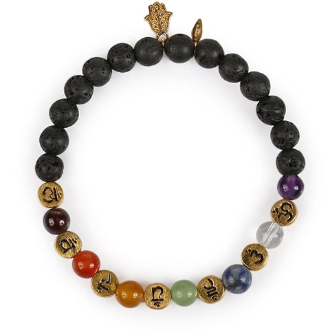 Invigorated Aim Lava Beads Bracelet - Karma and Luck | Buy Online