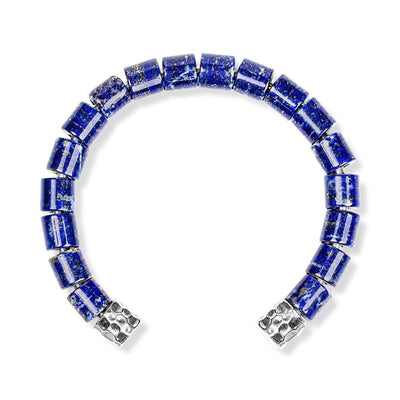 Take Courage - Silver Lapis Lazuli Men's Cuff Bracelet