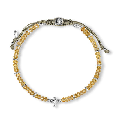 Cheerful Growth - Citrine Tree of Life Charm Bracelet