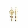 Subtle Movement -Gold Lotus Labradorite Earrings