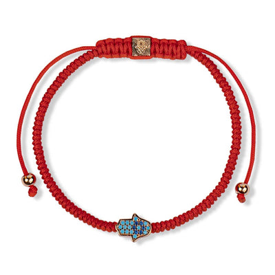 Karma and Luck - Blessed Insight - Hamsa Charm Red String Protection Bracelet - Buy Now