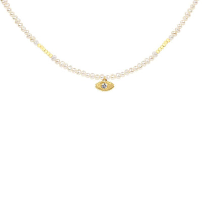 karma and luck - Beautiful Reverie Freshwater Pearl Necklace