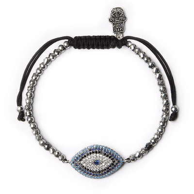 Ancient Protector Evil Eye Silver Bracelet - Karma and Luck | Buy Online