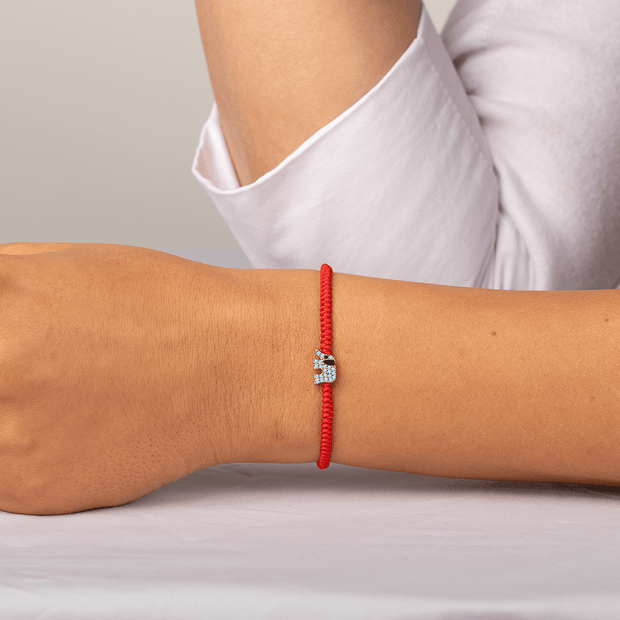 Seek Wisdom Red String Bracelet