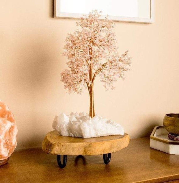 Loving Vibes Feng Shui Rose Quartz Tree