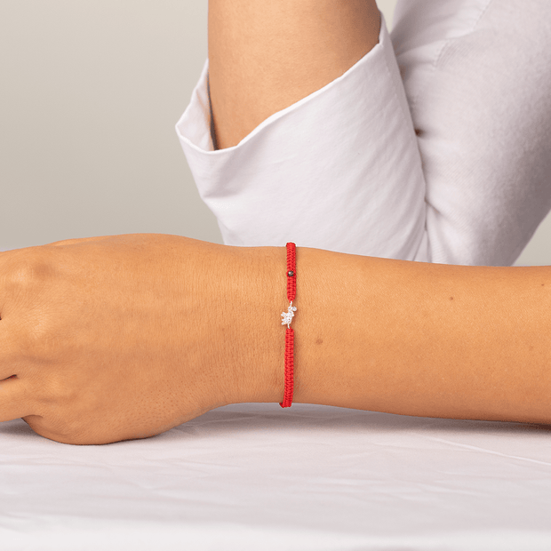 Infinite Wisdom Red String Bracelet