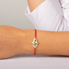 Cheerful Dreams Red String Macrame Daisy Charm Bracelet