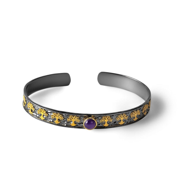 Inner Equilibrium - Tree of Life Amethyst Cuff