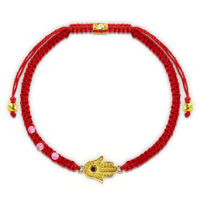 Spirit Guardian Red Macrame Bracelet - Karma and Luck | Buy Online